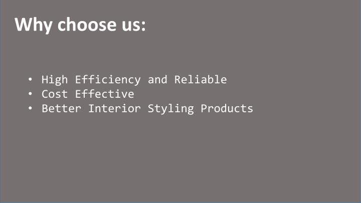 Why choose us: