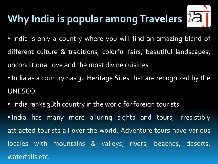 Why India is popular among Travelers