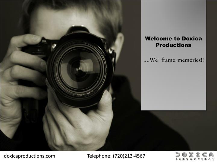 Welcome to Doxica Productions