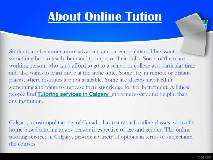 About online tution