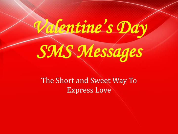 valentines day sms messages