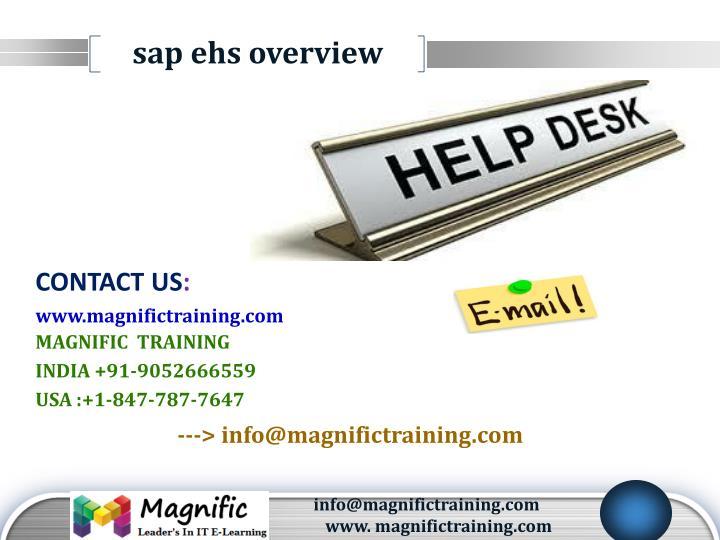 sap ehs overview