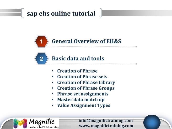 sap ehs online tutorial