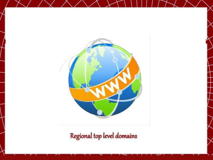 Regional top level domains
