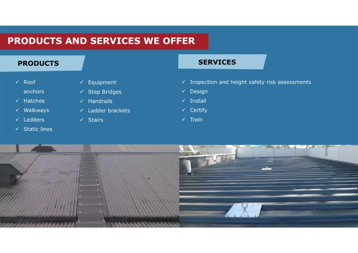 PRODUCTS AND SERVICES WE OFFER