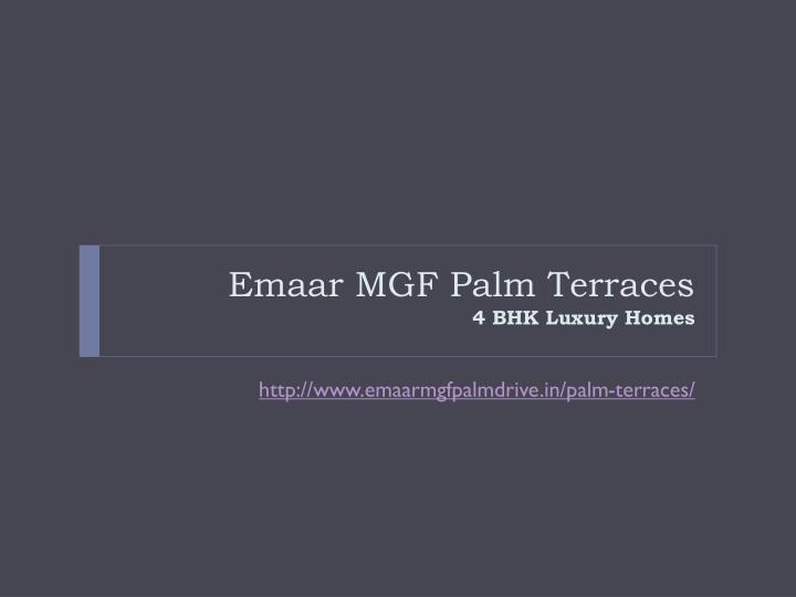 Emaar MGF Palm Terraces