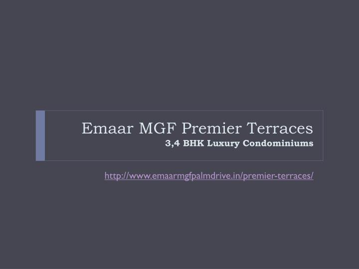 Emaar MGF Premier Terraces