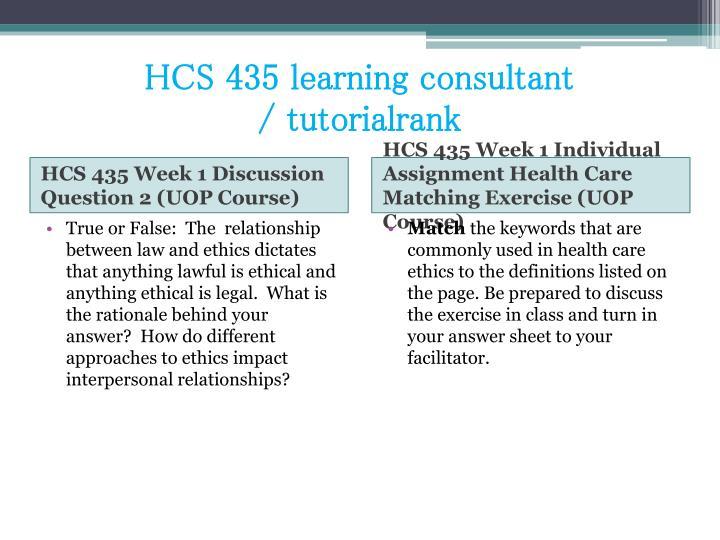 Hcs 435 learning consultant tutorialrank2