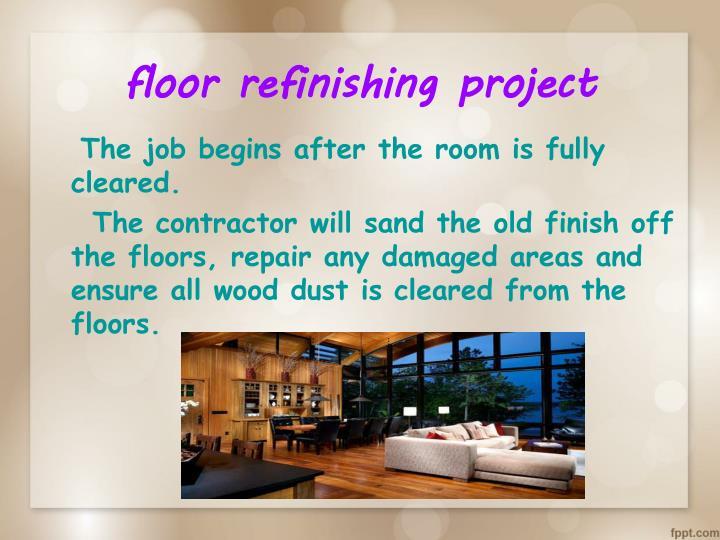floor refinishing project