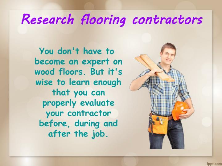 Research flooring contractors