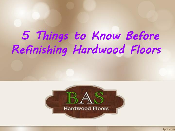 5 Things to Know Before