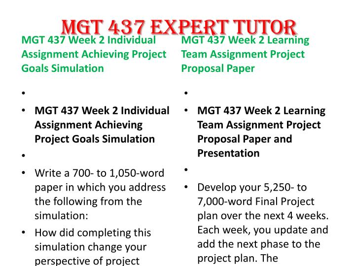 mgt 437 week 2 achieving project Mgt 437 week 2 achieving project goals simulation 1 to download this tutorial follow the link this paperwork mgt 437 week 2 achieving project goals simulation consists of the following parts: 1.