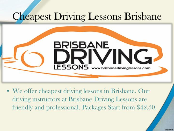 Cheapest Driving Lessons Brisbane