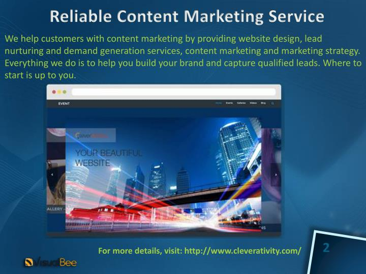 Reliable content marketing service