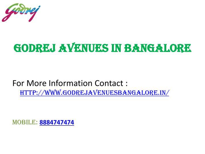 Godrej Avenues in Bangalore