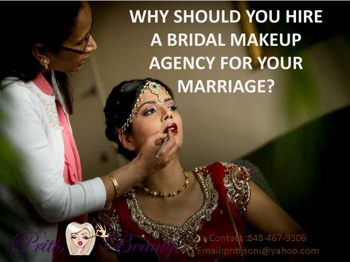 Why should you hire a bridal makeup agency for your marriage