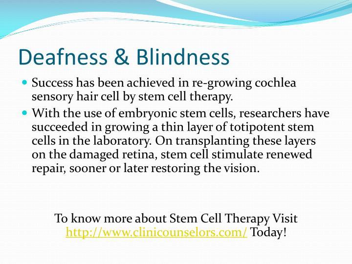 Deafness & Blindness