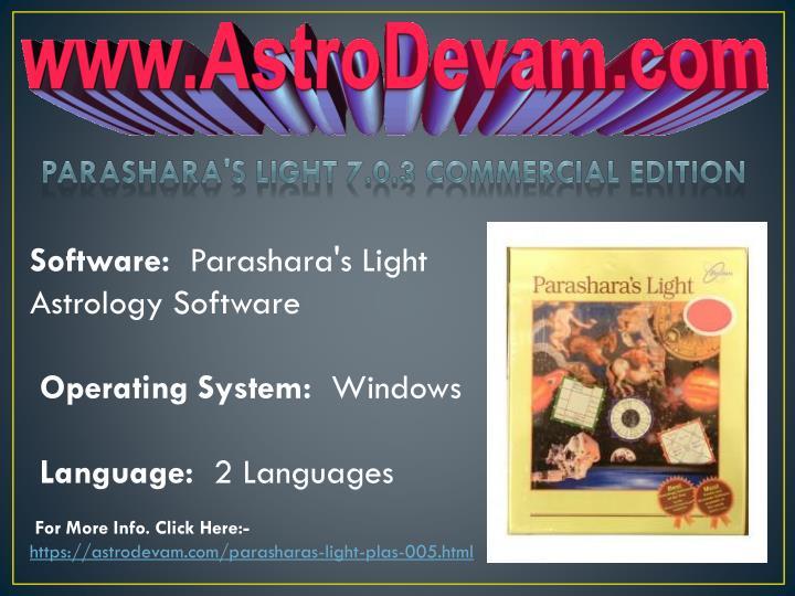 parashara light 7.0 1 free download