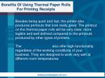 benefits of using thermal paper rolls for printing receipts5