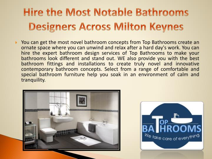 hire the most notable bathrooms designers across milton keynes n.