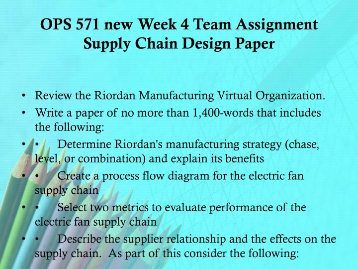 process flow diagram for the electric fan supply chain wiringprocess flow diagram for the electric fan supply chain wiring riordan week 4 chain supply ops