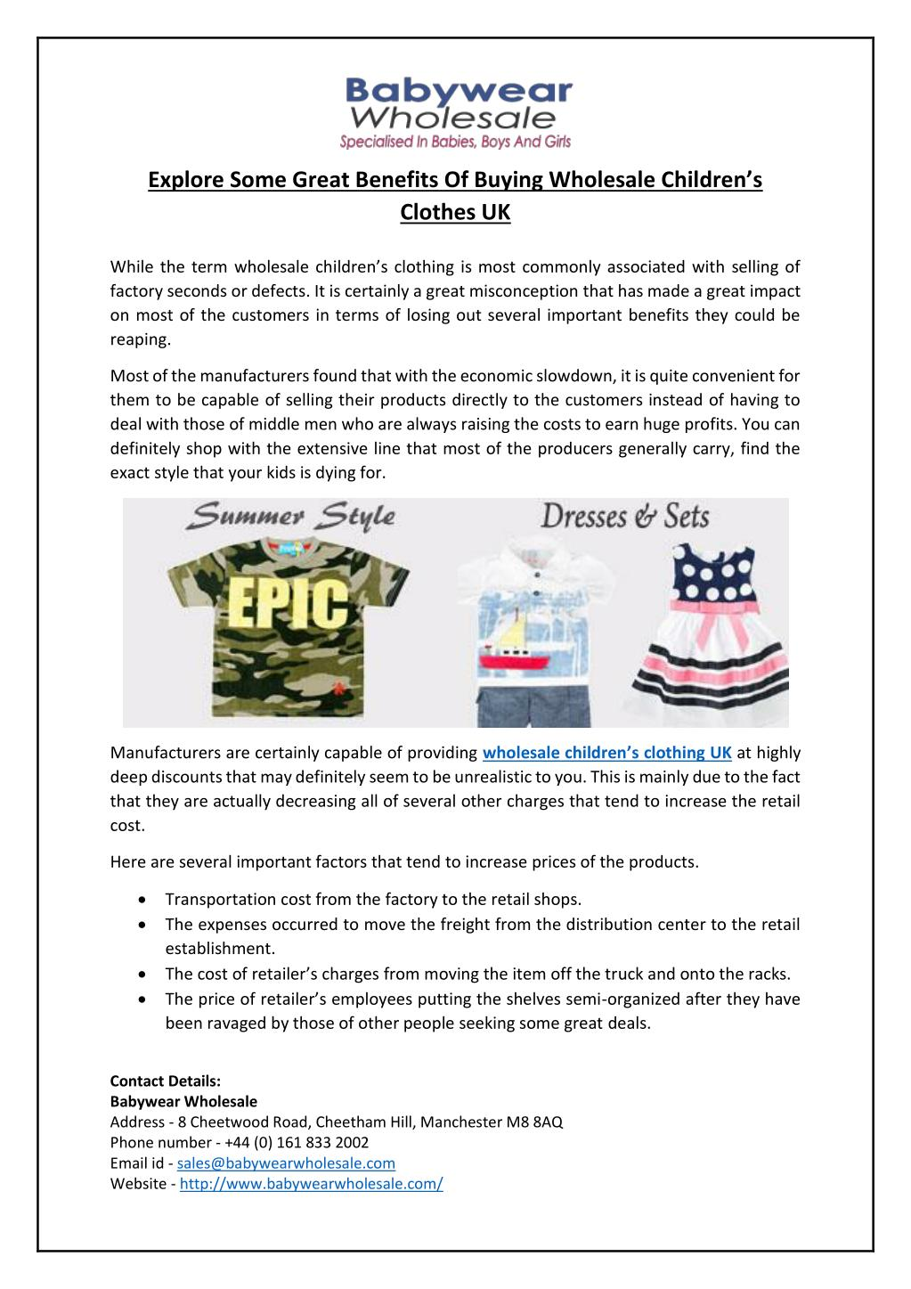 PPT - Explore Some Great Benefits Of Buying Wholesale