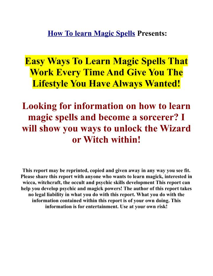 PPT - Real magic spells - Learn real magic secrets! PowerPoint