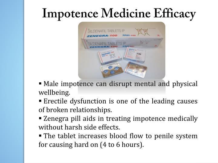 Impotence Medicine Efficacy
