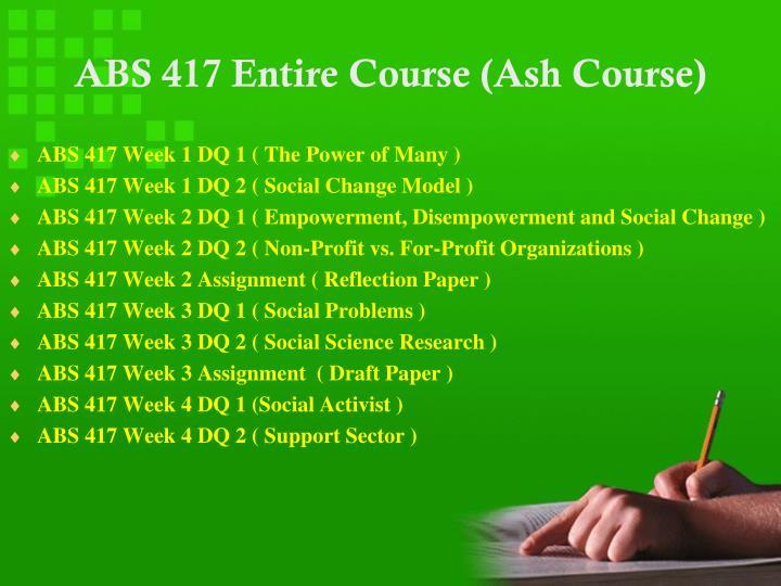 Abs 417 entire course ash course