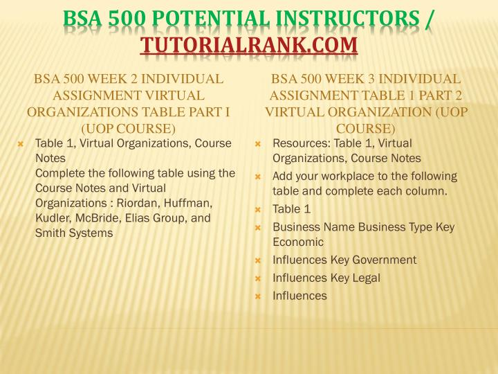 bsa 500 week 4 balance sheet Bsa 500 week 1 learning team charter bsa 500 week 2 individual assignment virtual part i bsa 500 week 3 individual assignment 1 part 2 bsa 500 week 4 individual assingment balance sheet.