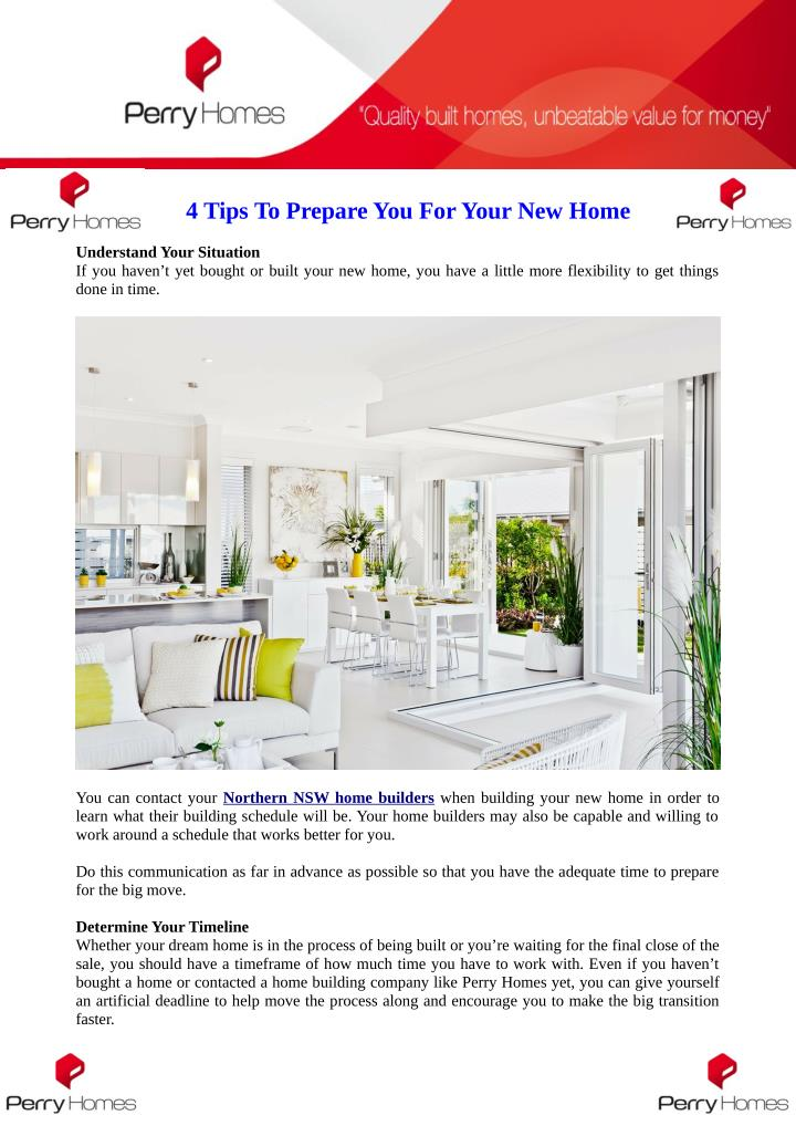 4 Tips To Prepare You For Your New Home