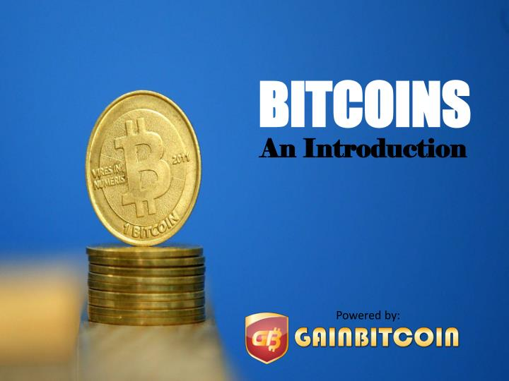 introduction to bitcoin ppt