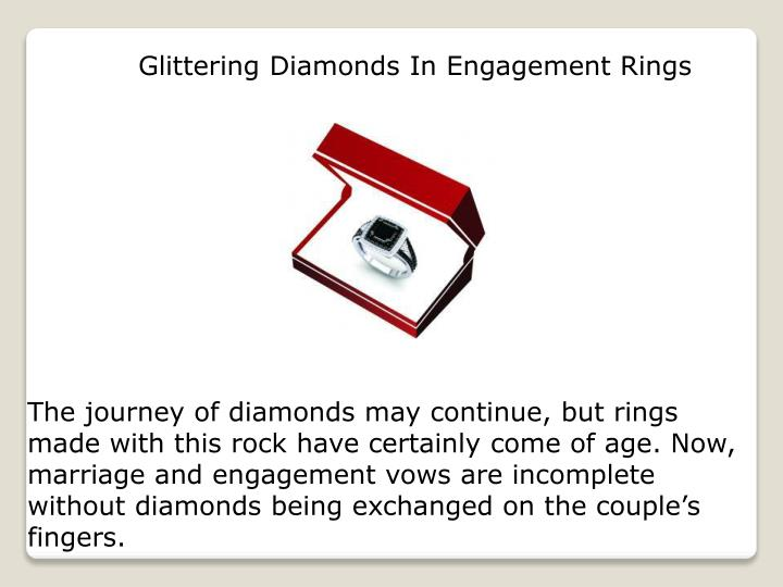 Glittering Diamonds In Engagement Rings