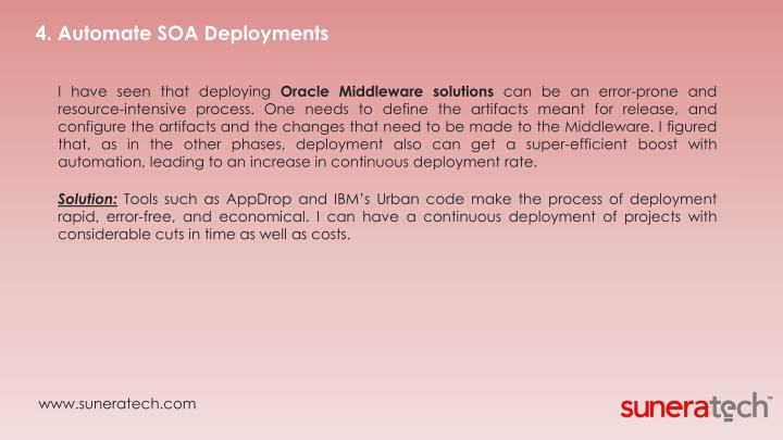 4. Automate SOA Deployments