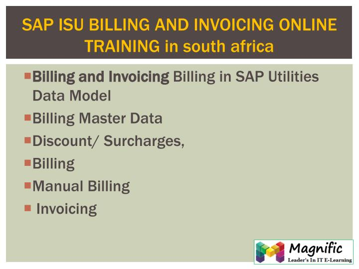 PPT SAP ISU BILLINGINVOICE ONLINE TRAINING IN AUSTRALIASOUTH - Online invoice south africa