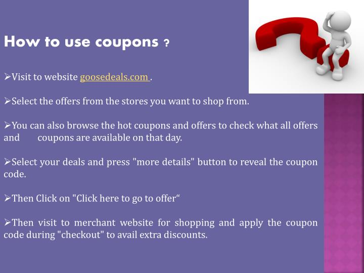 How to use coupons ?