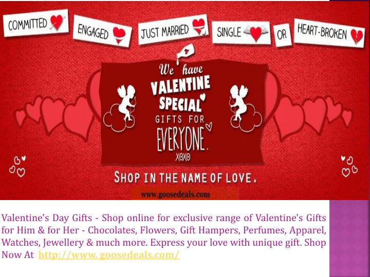 Valentine's Day Gifts - Shop online for exclusive range of Valentine's Gifts