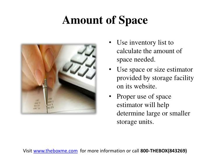 Amount of space