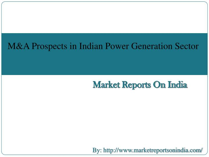 report on m a in indian telecom