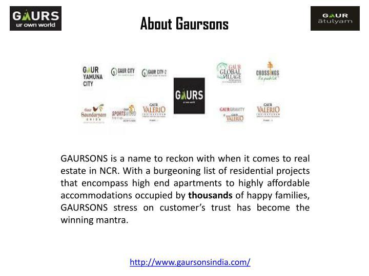 About gaursons