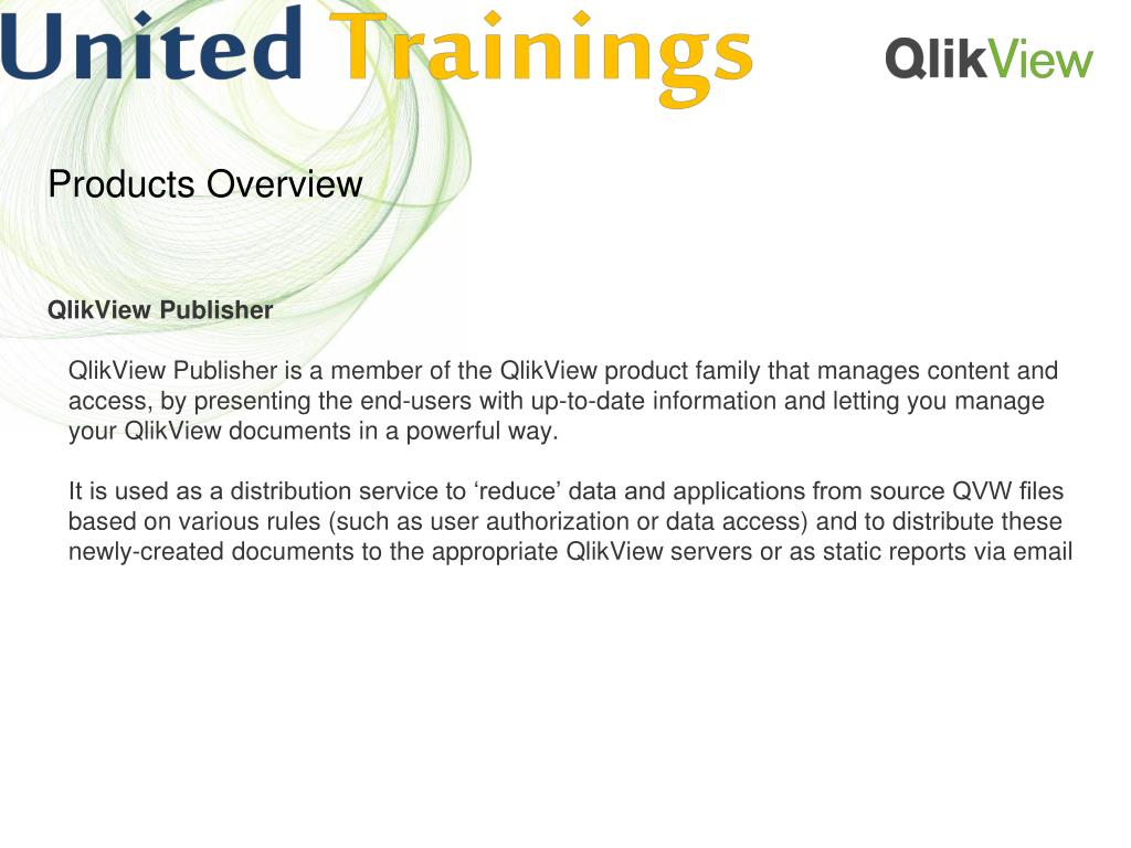 PPT - Qlikview Online Training   qlikview training material