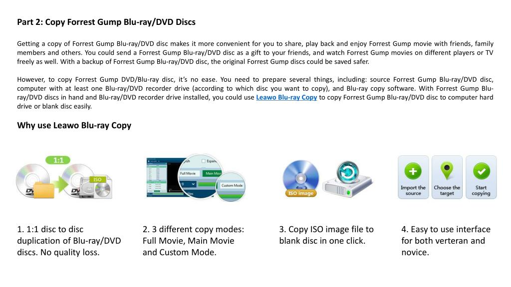 PPT - How to copy a blu ray disc of forrest gump PowerPoint