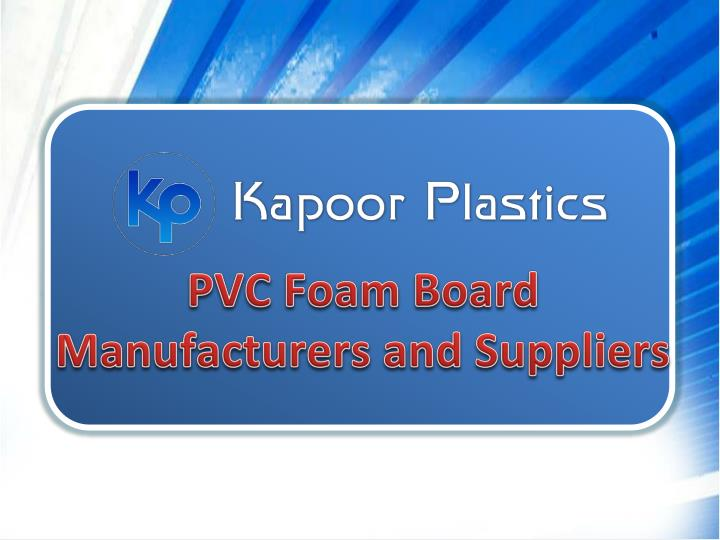 pvc foam board manufacturers and suppliers n.