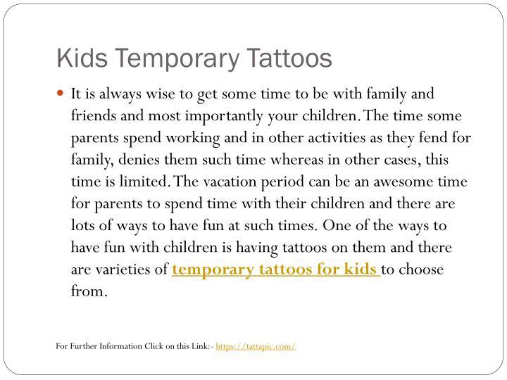 Kids temporary tattoos1