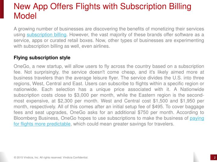 New App Offers Flights with Subscription Billing