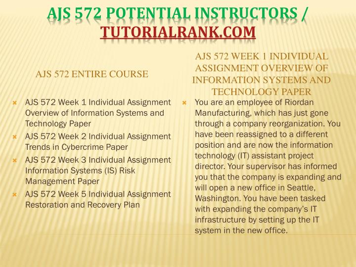 Ajs 572 potential instructors tutorialrank com1