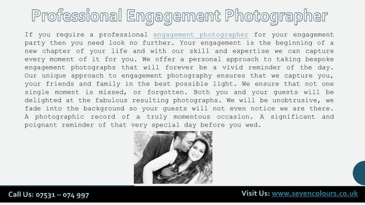 Professional Engagement Photographer