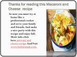 thanks for reading this macaroni and cheese recipe