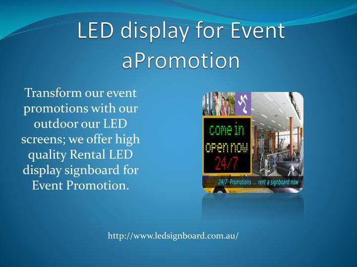 LED display for Event