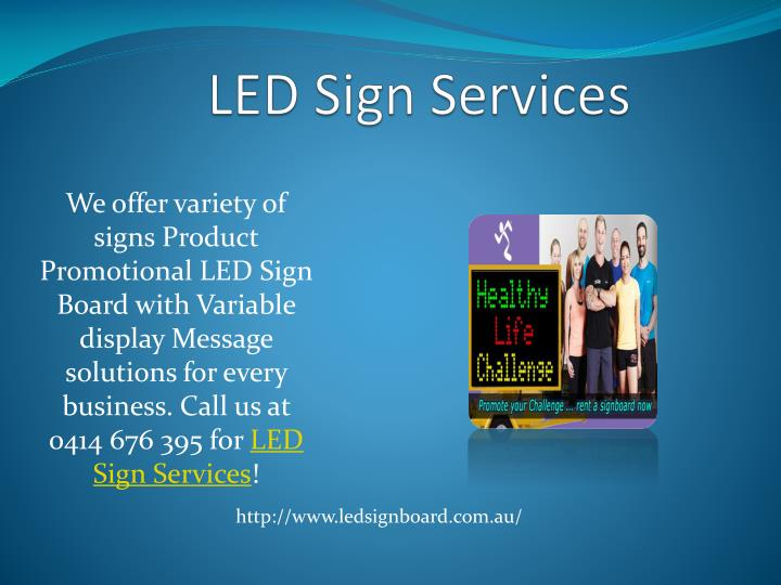 Led sign services